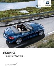 Les équipements option (SA) de la BMW Série Z4 Roadster