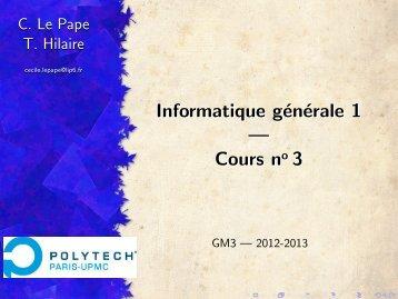 Cours 3 - IA - LIP6