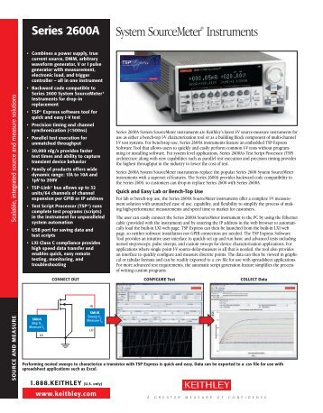 Keithley 2600A Series Sourcemeter