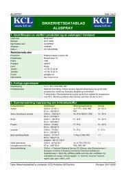 SIKKERHETSDATABLAD ALUSPRAY - Kolberg Caspary Lautom AS
