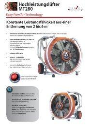 Hochleistungslüfter MT280 (1.45 Mo) - Leader GmbH