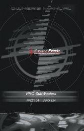 PRO SubWoofers - Precision Power