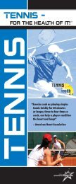 Tennis - for the health of it! brochure - United States Professional ...