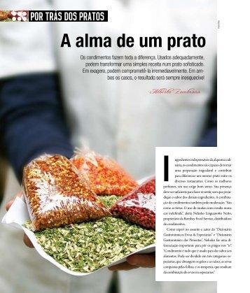A alma de um prato - Cozinha Profissional