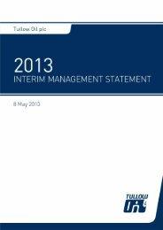 Tullow Oil Interim Management Statement May 2013 - The Group