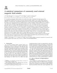 A statistical comparison of commonly used external magnetic field ...