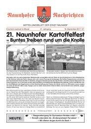 21. Naunhofer Kartoffelfest – Buntes Treiben rund um ... - in Naunhof