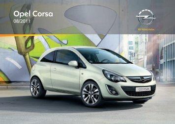 Opel Corsa 2012 – Instrukcja obsługi – Opel Polska