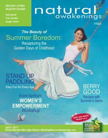 Summer Boredom: - MileHighNaturalAwakenings.com