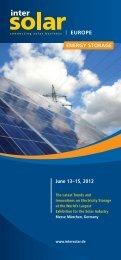 ISE2012 Energy Storage Flyer - Intersolar India