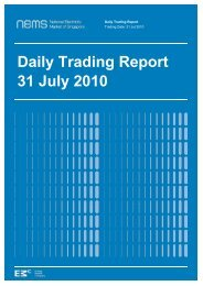 Daily Trading Report 31 July 2010 - EMC - Energy Market Company