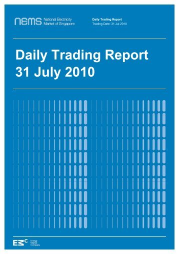 Daily Trading Report 31 July 2010 - EMC - Energy Market Company