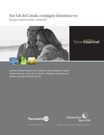 Sun Life du Canada, compagnie d'assurance-vie - CI Investments