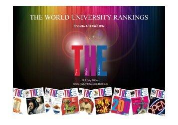 World University Rankings methodology
