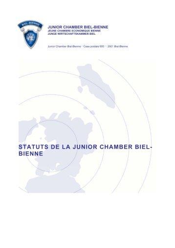 STATUTS DE LA JUNIOR CHAMBER BIEL- BIENNE