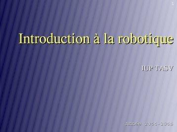 Introduction à la robotique - AVR