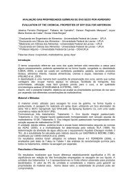 avaliação das propriedades químicas de ovo seco por ... - SOVERGS