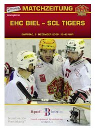 EHC BIEL – SCL TIGERS