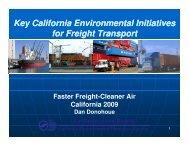 Key California Environmental Initiatives for Freight Transport