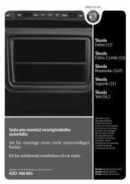 Åkoda Fabia Combi (5J) - ÅKODA E-shop - Åkoda Auto