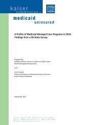 Kaiser Family Foundation Survey on State Medicaid Managed Care ...