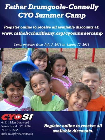 Father Drumgoole-Connelly CYO Summer Camp - Catholic ...