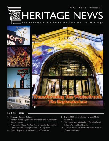Heritage News - San Francisco Architectural Heritage