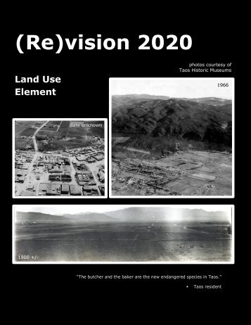 (Re)Vision 2020 - May Draft - The Town Of Taos