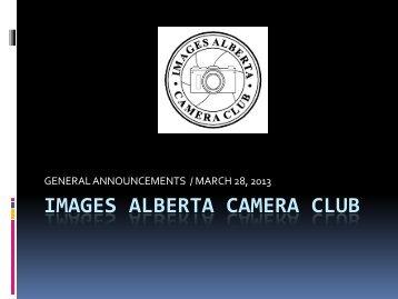 Mar 28 2013. - Images Alberta Camera Club