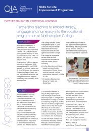 Partnership teaching to embed literacy, language and numeracy into ...