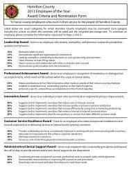 Hamilton County 2013 Employee of the Year Award Criteria and ...