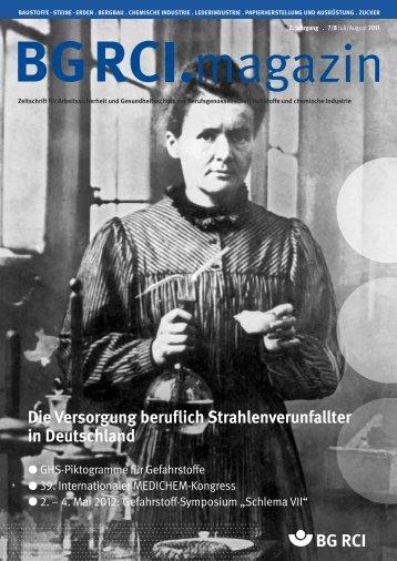 BG RCI Magazin Ausgabe 7/8 2011 - Berufsgenossenschaft ...
