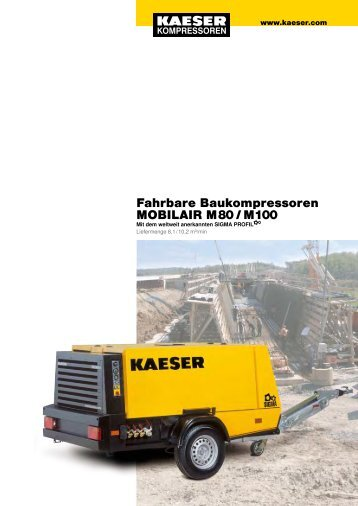 Fahrbare Baukompressoren MOBILAIR M 80 / M 100