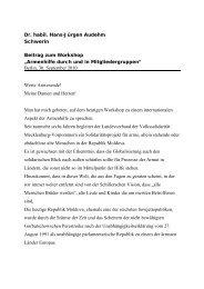 Beitrag Dr. Hans-Jürgen Audehm