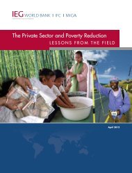 The Private Sector and Poverty Reduction - Independent Evaluation ...