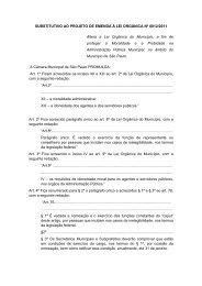 Projeto de Emenda à Lei Orgânica - Governo do Estado de São Paulo