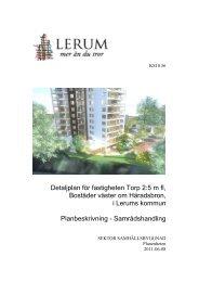 Detaljplan för fastigheten Torp 2:5 m fl, Bostäder ... - Lerums Kommun