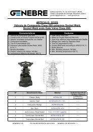 2232S Válvula de Compuerta Clase 800 extremos Socket ... - TDM