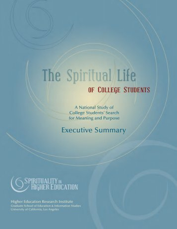 The Spiritual Life of College Students - Council for Christian ...