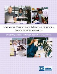 National Emergency Medical Services Education ... - NHTSA EMS