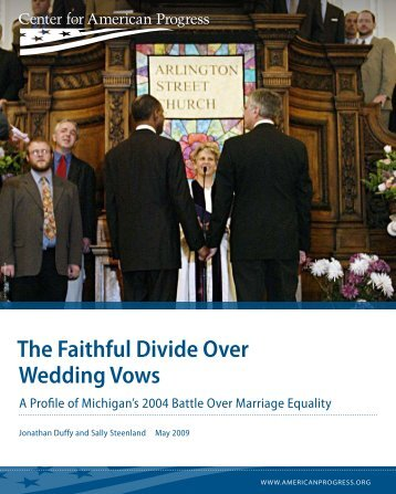 The Faithful Divide Over Wedding Vows - Arcus Foundation
