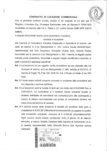 Contratto di locazione uso commerciale pdf for Contratto di locazione ad uso abitativo di natura transitoria