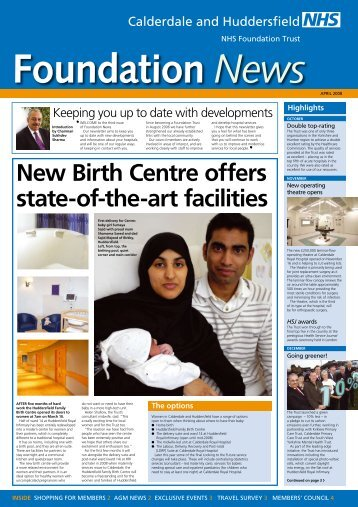 Foundation News April 2008 - Calderdale and Huddersfield NHS ...