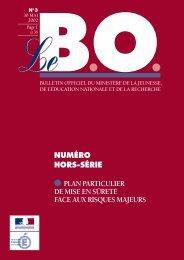 B.O. hors série n°3 du 30 mai 2002