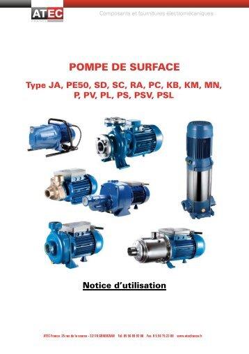 Télécharger la notice des pompes centrifuges - ATEC France