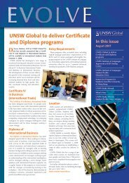 August 2007 - UNSW Global Pty Limited - University of New South ...