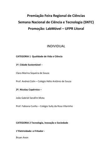 RESULTADO FINAL - UFPR Litoral