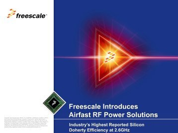 Airfast RF Power Solutions AFT26HW050GS - Freescale
