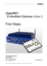 First Steps Com/PC1-800 with EGL/2 - SSV Software Systems