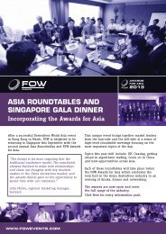 asia roundtables and singapore gala dinner - Futures & Options World